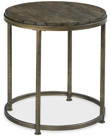 Image 1 Of Link Wood Round End Table Marble End Tables End