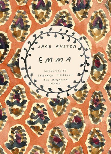 Emma, Jane Austen, book, Vintage Classics Series, painting, watercolour, design, book cover, illustration, lettering, type, colour scheme, pattern