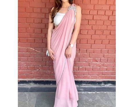 Desiger saree saree for women blouse saree blouse plain | Etsy