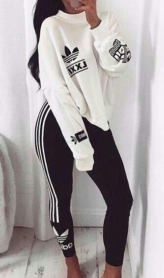 katrinihln   Sporty outfits, Adidas outfit
