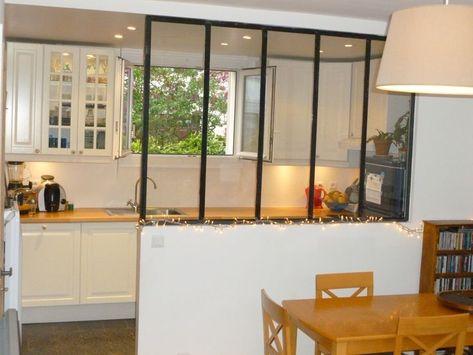 Verriere Cuisine Verriere Salon Et Cuisine Chez La Blogueuse De Laparenthesedeco Com Cuisine Verriere Separation Cuisine Salon Deco Maison