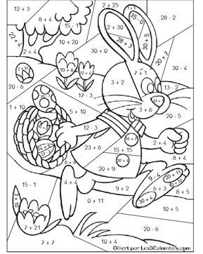 Pin By Neli Paparkova On Atividades Easter Math Worksheets Easter Math Math Coloring