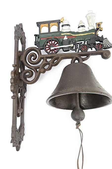 Gartenglocke Wandglocke Eisenbahn Dampflok Zug Lokomotive Gusseisen Eisen Eisenglocke Metallglocke Schiffsglocke Antik R Garten Gartengestaltung Terassen Ideen