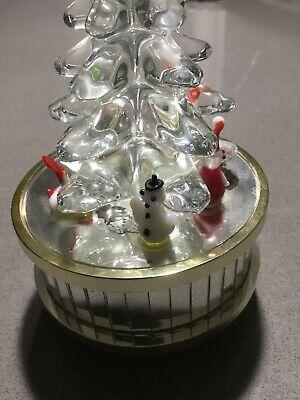 Vintage Enesco Clear Glass Christmas Tree Music Box O Tannenbaum Ebay In 2020 Christmas Tree Music Box Glass Christmas Tree Christmas Music Box