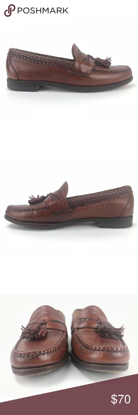 0fca5afe7cfca Allen Edmonds Maxfield Tassel Leather Dress Loafer Woven Saddle and ...