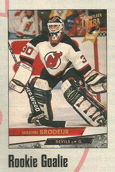 Martin Brodeur Fleer Ultra Rookie Card Faded Jerseys Fresh