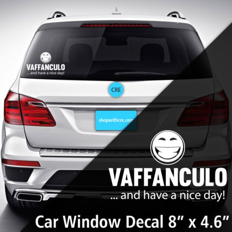 decals Vaffanculo Window Decal from...