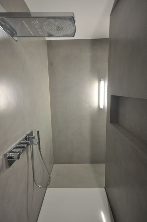 Designbad Kalk Marmor Putz Dusche Fugenlos Fugenlose Dusche Badezimmer Wand Putz