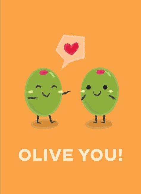 Olive You, an art print by Krizia Lim
