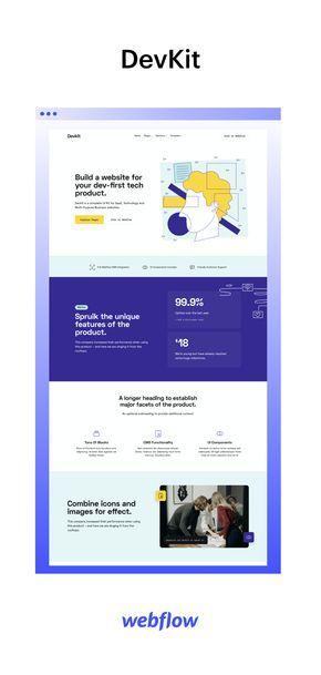 Devkit Technology Html5 Responsive Website Template In 2020 Startup Website Website Template Web Design Tools