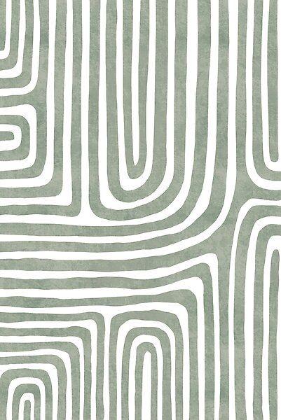 Flowing Green Abstract Geometric Line Art Sage Green Wallpaper Cute Patterns Wallpaper Green Wallpaper