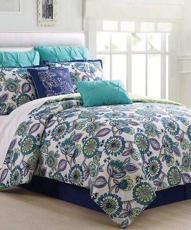 Love This Navy Spa Blue Alegro Eight Piece Comforter Set On Zulily Zulilyfinds Comforter Sets Baby Bedding Sets Bedroom Sets