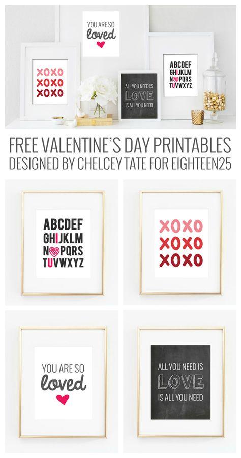 Free adorable Valentine's day printables!