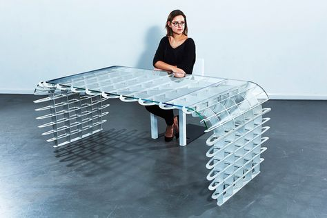 Duffy London casts an eye towards the fascinating world of aircraft design, to dream up a majestic new Table/Desk, that merges the technical mechanical aluminium structure, into a beautifully simple piece of furniture.