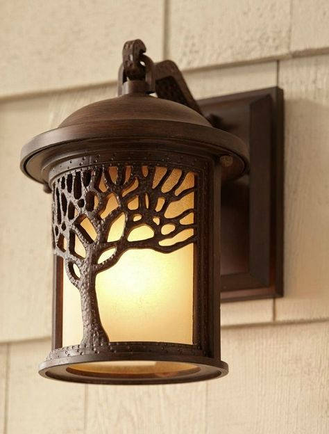 Outdoor Porch Light Bronze Mission Style Wall Mount Sconce Cabin Lodge Tree New Jtc Porch Lighting Outdoor Porch Lights