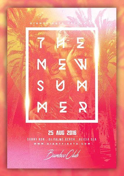 SUMMER BEACH Flyer Template PSD