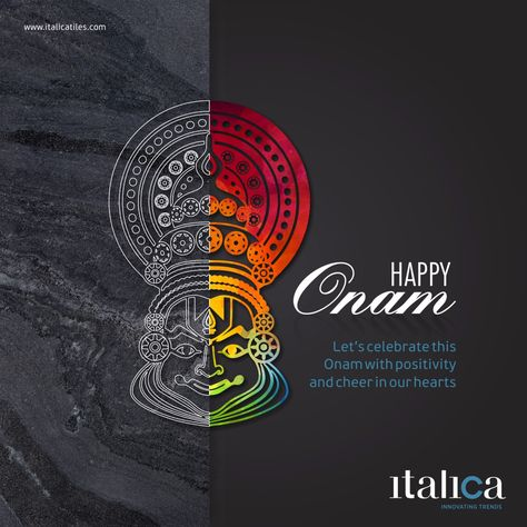 Lets celebrate this Onam with positivity and cheer in our hearts Happy Onam! #Italica #Ceramic #Brand #onam #festival #malayalam #fun #indian #traditional