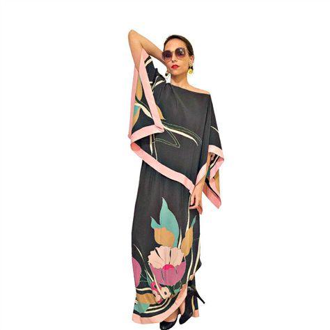 70s kimono blouse / maxi skirt vintage saks by FoxandCatVintage