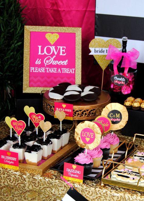 GOLD HEARTS - Bridal Shower - Wedding - Wedding Shower- Heart- Gold Heart CUPCAKE TOPPERS - Glitter Heart - Gold -Sweetheart - INSTANT Download