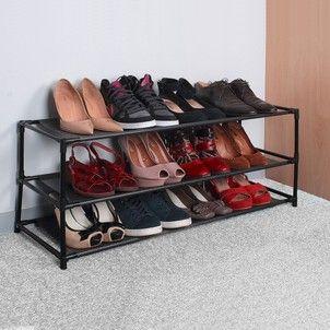 Etagere A Chaussures Modulable De 2 A 6 Niveaux Casame La Redoute Etagere Chaussures Meuble Chaussure Rangement Dressing