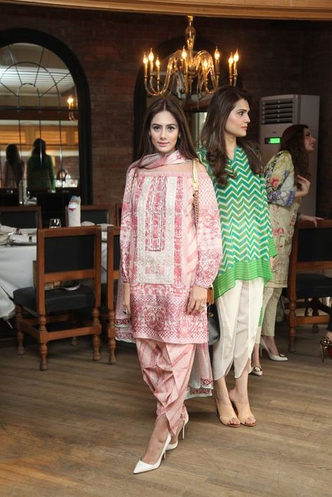 Sommer Neuesten Styling Tulip Shalwar Dressing für Pakistanische Mädchen #Kleider