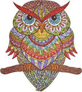 Hartmaze Wooden Jigsaw Puzzles Colorful Owl Hm 04 Small Bird