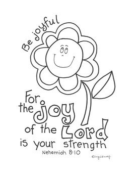 45++ The joy of the lord is my strength coloring page info