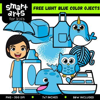 FREE Light Blue Color Objects Clip Arts | Free Clipart