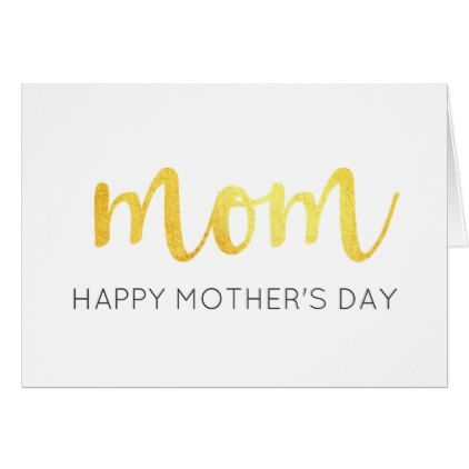 Chic Modern Metallic Gold Mom Happy Mother S Day Zazzle Com