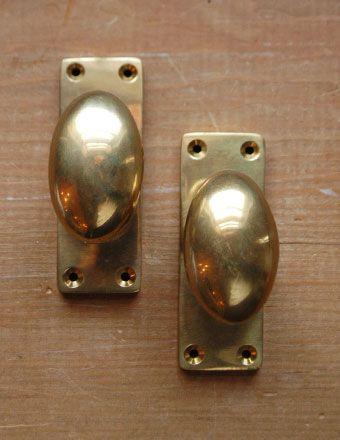 ヴィンテージ風の真鍮ドアノブ オーバル スクエア ラッチセット付 U 807 V ドアノブ アンティーク ドアノブ ドア