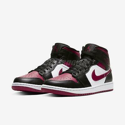 Nike Air Jordan 1 Mid Black Noble Red Aj1 Mens Shoes Sneakers 554724 066 In 2020 Air Jordans Jordan 1 Mid Nike Fashion Shoes