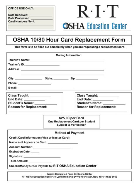Osha 30 Card Template Fill Online Printable Fillable Throughout Osha 10 Card Template Card Template Certificate Templates Business Template