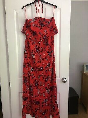 Red Summer Dress Size 12 Ankle Length In 2020 Summer Dresses Red Summer Dresses Dresses