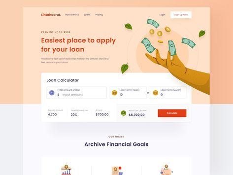 Bank loan landing page 🏛