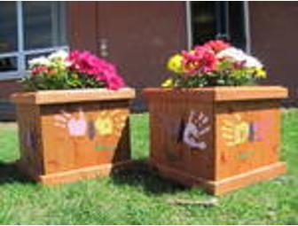 Place a bid on Planter with Pre-K Handprints to help support the Northwest Christian School fundraising auction.