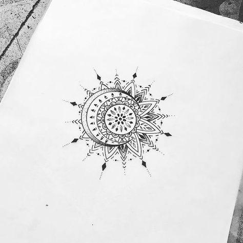 #sun #moon #mandala #tattoo #nap #hold #tetoválás #dotwork #blackandwhite #feketefehér #tetoválásötletek #tattooidea #inspiration #westendtattooandpiercing @westend_tattoo