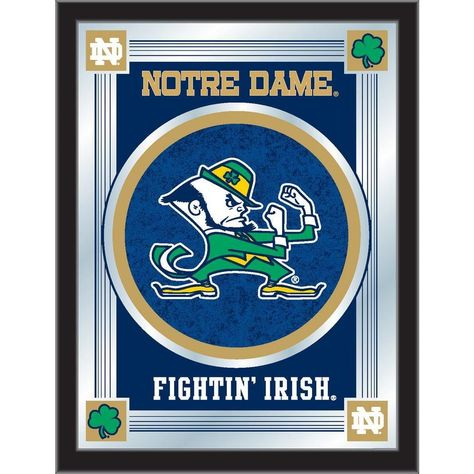 View the University of Notre Dame - Fighting Irish Logo Mirror by Holland Bar Stool Co. The University of Notre Dame - Fighting Irish Logo Mirror Is available in a variety of customizable options and is proudly made in the U.