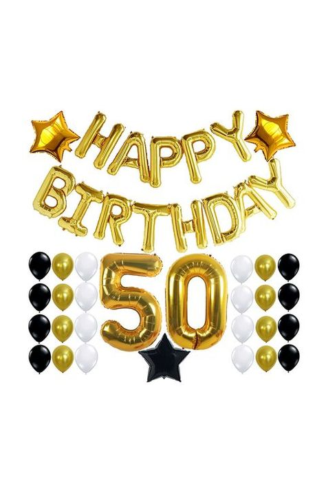 Get excited about turning 50 with these birthday party ideas that include gifts, decor and food. 50th Birthday Cupcakes, 50th Birthday Party Ideas For Men, 80th Birthday Party Decorations, 50th Birthday Centerpieces, 50th Birthday Themes, Moms 50th Birthday, Mom Birthday Crafts, 80th Birthday Gifts, 50th Party