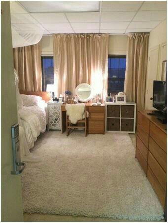 Laurie Schmid Warmed Up Her Daughteru0027s Baylor University Dorm Room By  Adding Beautiful Curtains To Curtain Tracks. I NEED Floor To Ceiling  Curtains. Part 98