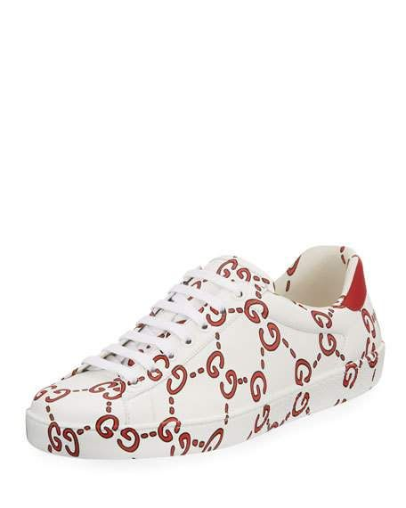 Gucci ace sneakers, Leather and lace