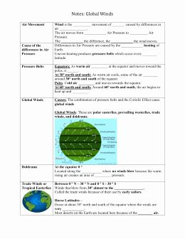 50 Global Wind Patterns Worksheet In 2020 With Images Pattern
