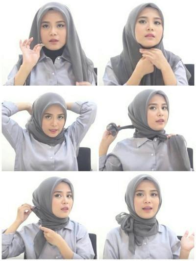 Tutorial Hijab Segi Empat Ala Laudya Chintya Bella Ragam Muslim
