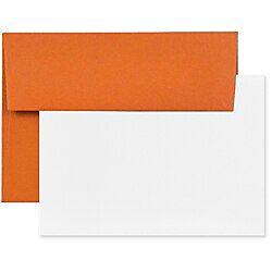 Jam Paper Stationery Set 4 3 4 X 6 1 2 Dark Orange White Set