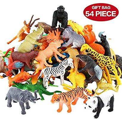Plastic Wildlife Pet Figurine Model Animal Toys Learning Party Favors
