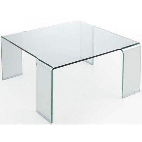 Table Basse Carree En Verre Alaska Atylia Mebel Table