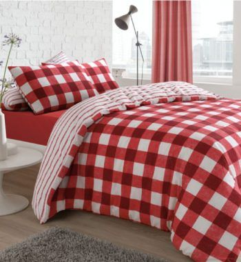 Gingham Red Bed Duvet Covers Bed Reversible Duvet Covers