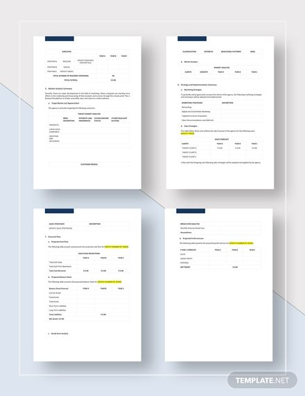 Advertising Agency Business Plan Business Plan Template