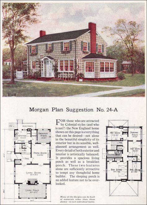 1923 Colonial Colonial House Plans Colonial House Vintage House Plans