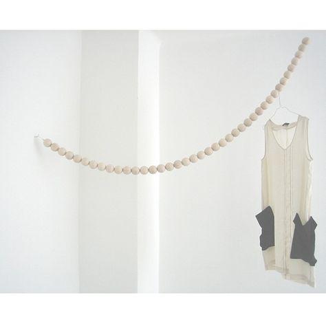 Wood Snake Clothes Rail Patere Design Tringle Vetement Et Decoration