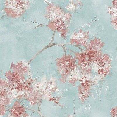 Ophelia Co Weeping Cherry Tree Blossom Peel Stick Wallpaper Color Pink Wallpaper Roll Peel And Stick Wallpaper Wallpaper